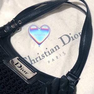 Rare Christian Dior Diorissimo bag (black)